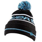 Kid's Bauer New Era Pom Pom Youth Knit Cap | Black