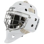 Bauer Profile 940X Jr. Certified Straight Bar Goalie Mask   One Size Fits All – Junior   White