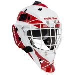 Bauer Profile 940X Sr. Certified Straight Bar Goalie Mask – Team   One Size Fits All – Senior   Red/White