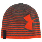 Kid's Under Armour Billboard 2.0 Youth Beanie | Stealth Gray/Volcano