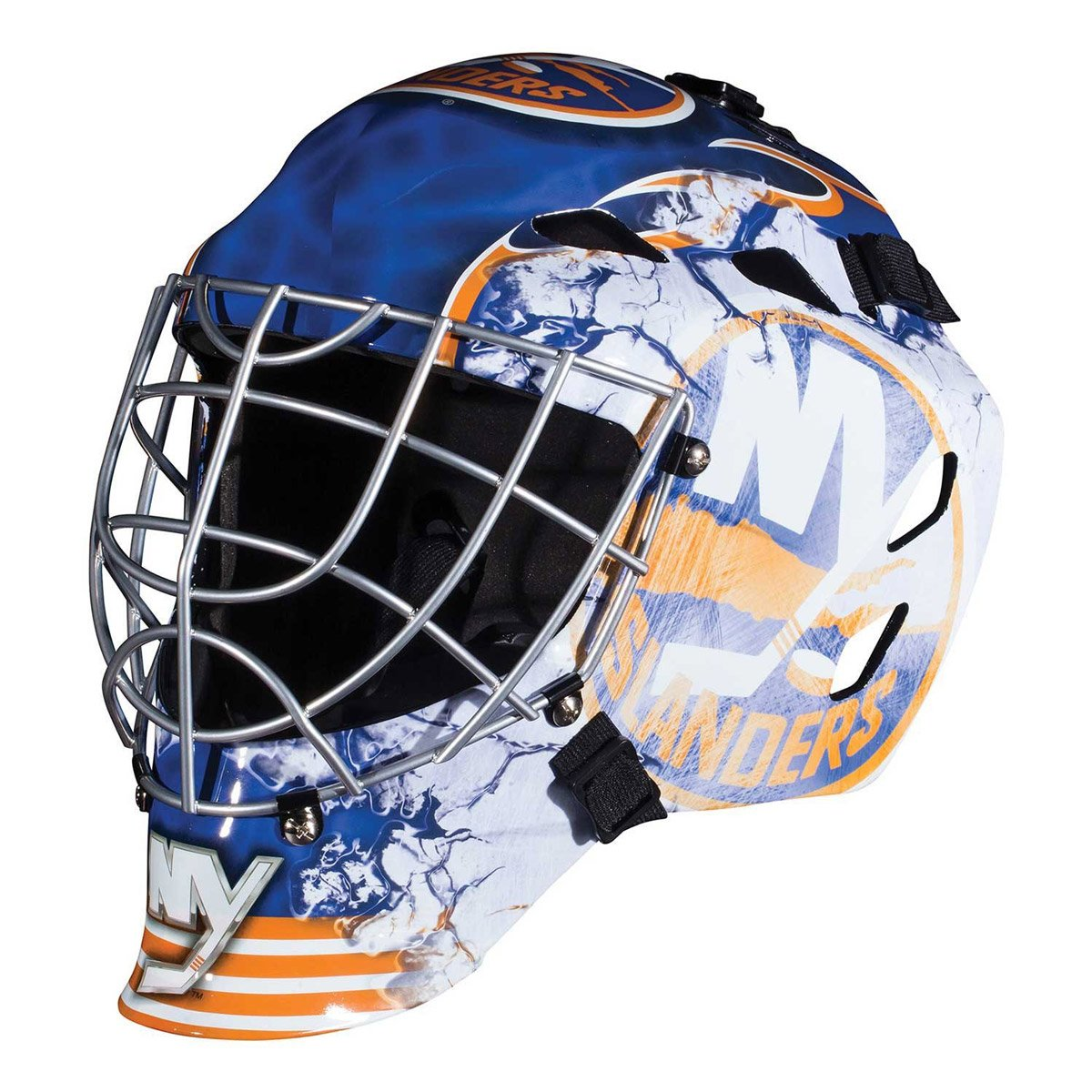 on sale 9766a d404b Collectible miniature goalie mask Official NHL team colors and logos  Authentic pro-style mask and cage design Molded plastic vented shell with  foam liner ...