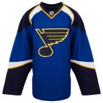 Home St. Louis Blues Reebok 7287 Authentic Hockey Jersey (2008-2014)   58   Royal   Home