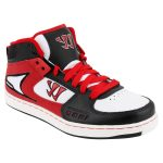 Kid's Warrior Hound Dog Youth Lifestyle Shoe – Black/Red | 5.5C
